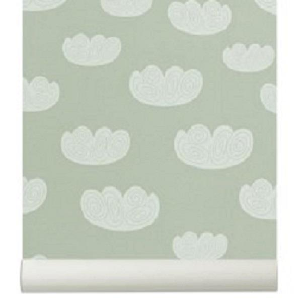 Tapet  Cloud - sky  mint Ferm Living