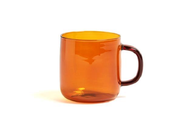 Afholte Borosilicate kop amber krus med hank fra HAY BL-54