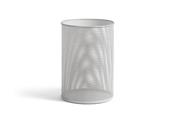Perforated Bin L lysegrå - Skraldespand - paraplyspand fra HAY