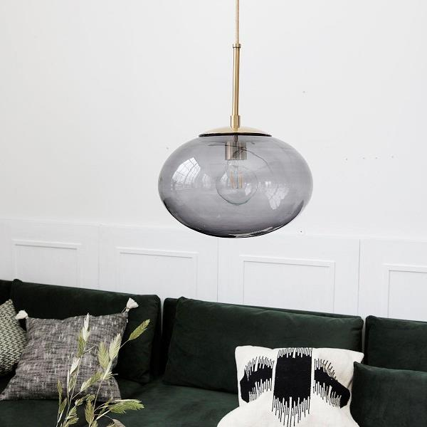 Loftlampe Opal grå large fra House Doctor