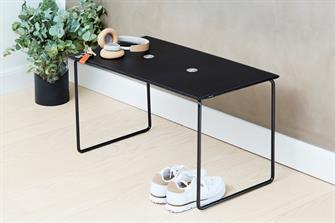 Bench - bænk sort/antracit med aluminium jewel small fra LindDNA