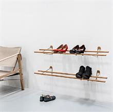 Shoe Rack - Skohylde / skostativ Moso-bambus, messingholder 100 cm fra We Do Wood