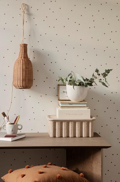 Dot Tufted pude i brun fra Ferm Living